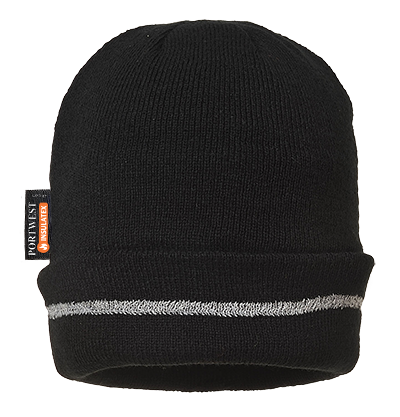 Portwest B023 Reflective Trim Knit Hat Thinsulate Lined