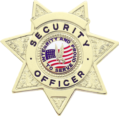 Blackinton B2077 Seven Point Security Officer Badge