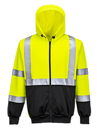 Portwest Hi-Vis Two Tone Zipped Hoodie - ANSI/ISEA 107-2015 TYPE R CLASS 3