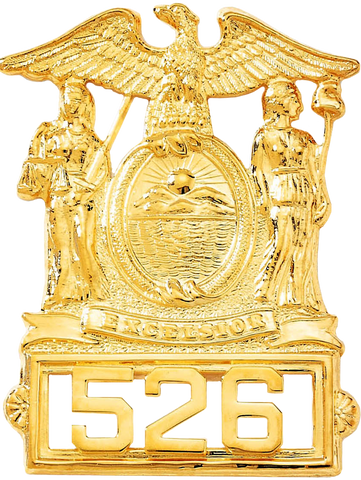 Blackinton B614 New York Coat of Arms Cap Badge