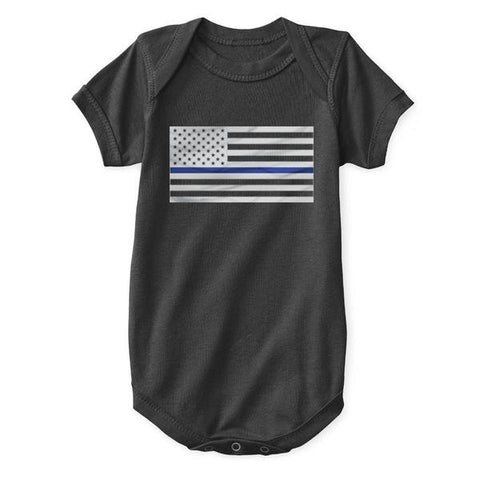 Infant One Piece - Thin Blue Line Flag