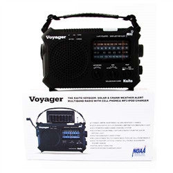 The Voyager - Solar AM/FM/SW/NOAA Weather Band Radio w/ Flashlight