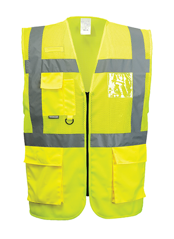 Portwest Madrid Executive Hi-Vis Vest - ANSI/ISEA 107-2015 TYPE R CLASS2