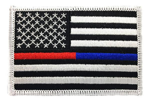 Dual Line American Flag Patch - Sew On