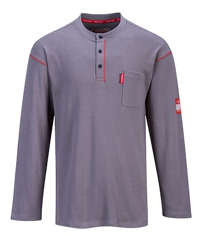 Portwest FR02 - Bizflame Henley Crew Neck Button T-Shirt