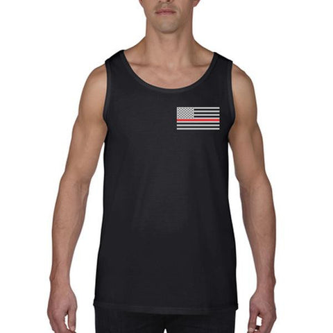 Tank - Thin Red Line American Flag