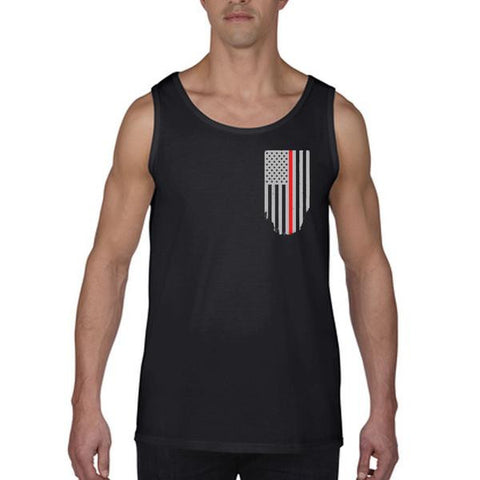 Tank - Thin Red Line American Flag, Honor & Respect