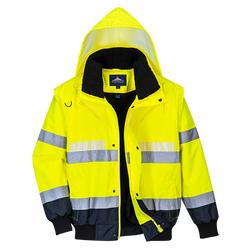 Portwest Glowtex 3 in 1 Bomber Jacket