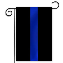 Black Flag with Thin Blue Line, 12 x 18 Inches