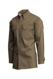 Lapco FR Flame Resistant Gold Label Uniform Shirt Khaki