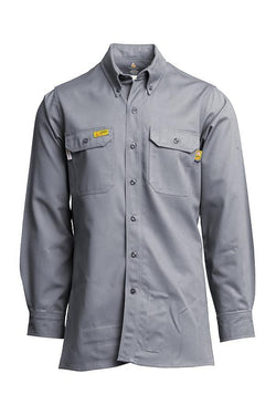 Lapco FR UltraSoft AC Advanced Comfort Uniform Shirt Gray