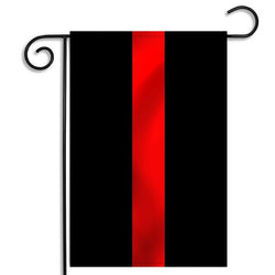 Thin Red Line Garden Flag, 12 x 18 Inches