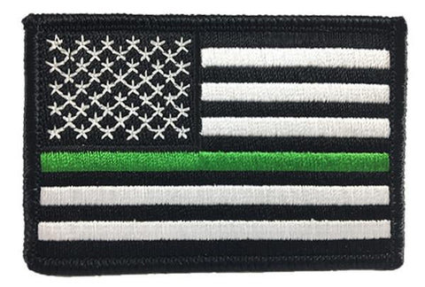 Thin Green Line American Flag Patch - Sew On