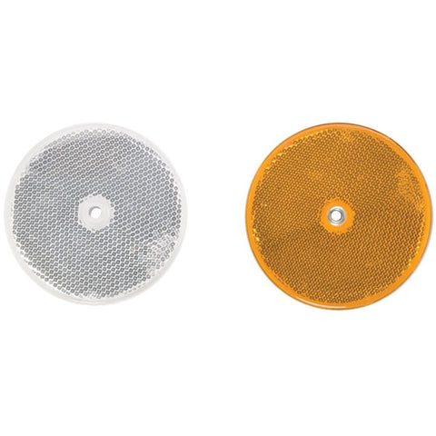 Plastic/Aluminum Highway Reflector (White or Yellow)