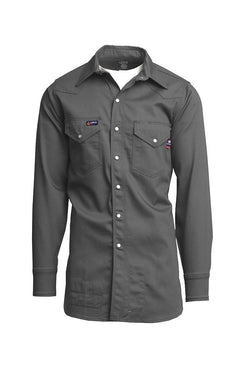Lapco FR Flame Resistant Western Shirt, 100% Cotton
