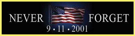 "Blackinton J151-P11 Never Forget 9/11/2001 (1 3/8"" x 3/8"")"