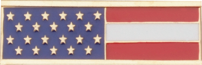 "Blackinton J201 America Flag Bar, Gold (1 3/8"" x 3/8"")"