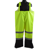 Petra Roc LBBIP-CE ANSI/ISEA 107-2010 Class E Lime/Black Waterproof Rain Bib Pants
