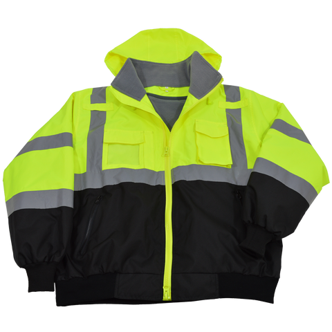 Petra Roc LBBJ-C3 ANSI Class 3 Waterproof Bomber Jacket with Removable Liner