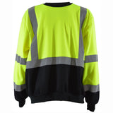 Petra Roc LBCSW-C3 ANSI 107-2010 Class 3 Two Tone Black Bottom Crew Neck Sweatshirt