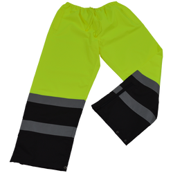 Petra Roc LBPP-CE ANSI/ISEA 107-2010 Class E Lime/Black Waterproof Rain Draw Strings Pants