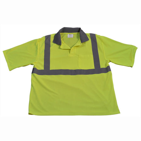 Petra Roc LPSS2 ANSI Class 2 Lime Mesh Short Sleeve Polo Shirt
