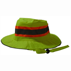 Petra Roc LRH-FB ANSI Lime Full Brimmed Ranger Style Hats
