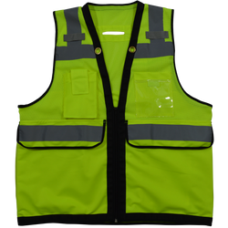 Petra Roc LVM2-HDSUV ANSI/ISEA Class 2 Deluxe 8-Pocket High Visibility Heavy Duty Surveyors Safety Vest
