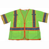 Petra Roc LV3/LVM3-CB1 ANSI/ISEA 107-2010 Class 3 Two Tone DOT Surveyors Safety Vest, Deluxe