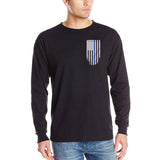 Men's Long Sleeve T-Shirt – Thin Blue Line Flag