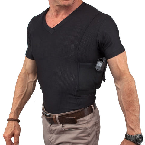 Men's Concealed Carry V-Neck Coolux Shirt