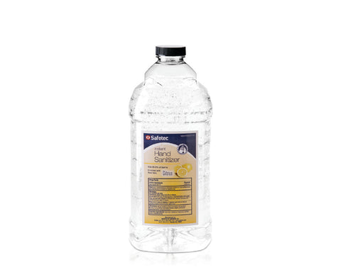 Safetec Citrus Scent Instant Hand Sanitizer, 64 oz bottle (Case of 8)