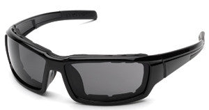 Body Specs BIG MO-3 Sunglasses w/ Gasket, Black Shiny Frame/Smoke Lens