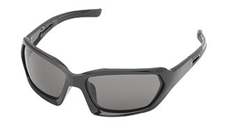 Body Specs 4TH ELEMENT Sunglasses (ANSI/MIL-STD), Black Shiny Frame/Smoke Lens