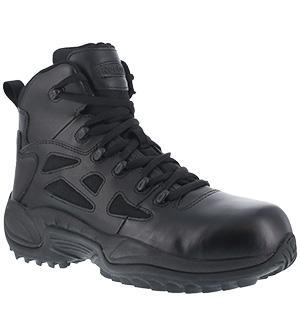 "Reebok RB8674 Men's Rapid Response RB Stealth 6"" Boot with Side Zipper, Composite Toe"