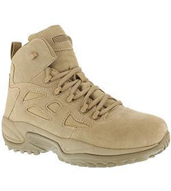 "Reebok RB8695 Men's Rapid Response RB Stealth 6"" Boot with Side Zipper, Desert Tan"