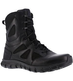 "Reebok RB8806 Men's Sublite Cushion 8"" Tactical Waterproof Boot with Side Zipper"