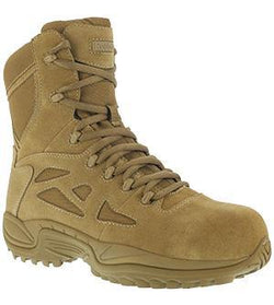 "Reebok RB885 Women's Rapid Response RB Stealth 8"" Boot with Side Zipper, Coyote"