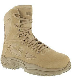 "Reebok RB8895 Men's Rapid Response RB Stealth 8"" Boot with Side Zipper, Desert Tan"