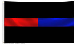 Thin Red Line/Thin Blue Line - 3 x 5 Foot Flag with Grommets