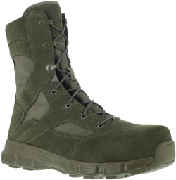 "Reebok RB8835 Men's Dauntless 8"" Tactical Boot with Side Zipper, Composite Toe, Sage Green"