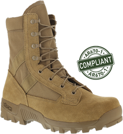 "Reebok RB8855 Men's Spearhead 8"" Hot Weather Military Boot, Coyote, AR670-1 Compliant"