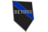 Retired Officer Sticker, 4 x 6 Inches