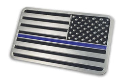 Reversed Thin Blue Line American Vehicle Emblem