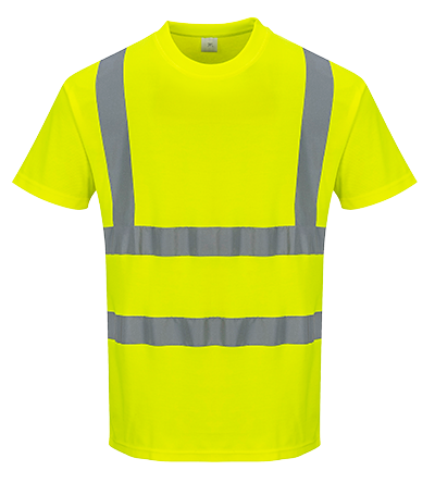 Portwest Cotton Comfort Short Sleeved T-Shirt - ANSI/ISEA 107-2015 Type R Class 2