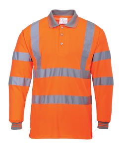 Portwest Hi-Vis Long Sleeve Polo Shirt - ANSI/ISEA 107-2015 Type R Class 2