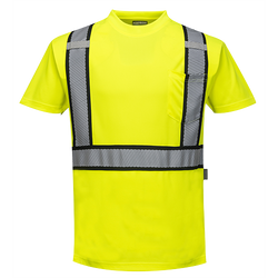 Portwest Detroit Short-Sleeved Hi-Vis T-Shirt