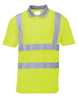 Portwest Hi-Vis S/S Yellow Polo Shirt - ANSI/ISEA 107-2015 Type R Class 2