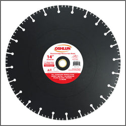 "Oshlun SBRD-14 14"" x 1"" Arbor Diamond Blade (20mm Bushing) - Rescue & Demolition"