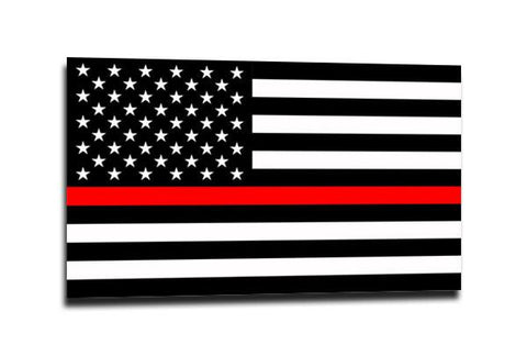 Thin Red Line American Flag Sticker, 4 X 6.5 Inches